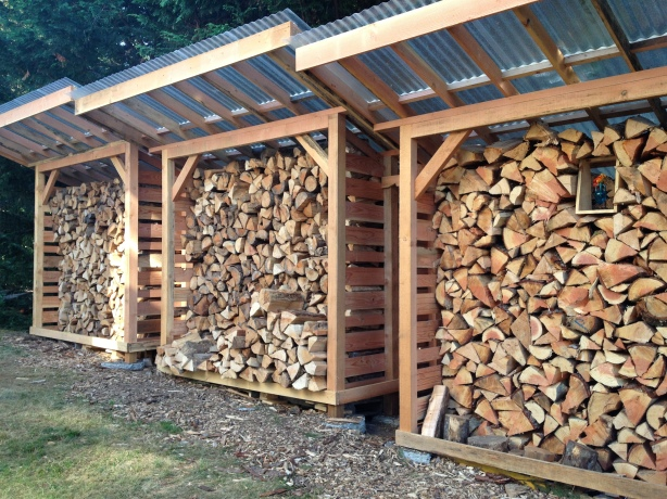 Build Outdoor Firewood Storage Box Plans DIY PDF joints