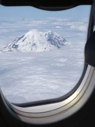 Mount Rainier from about the (almost) constant cloud cover