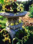 Fairy house created with extra sunflowers.