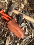 Favorite daily tools (mini-sledge and clamp pliers for working with rebar)