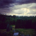 Taken by a friend; cloudy day